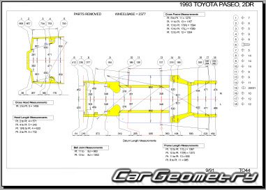 Toyota Paseo (EL44) 1992-1995 Collision Repair Manual