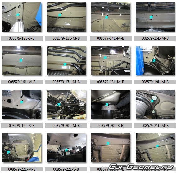 Контрольные размеры кузова Acura MDX Sport Hybrid (YD3
