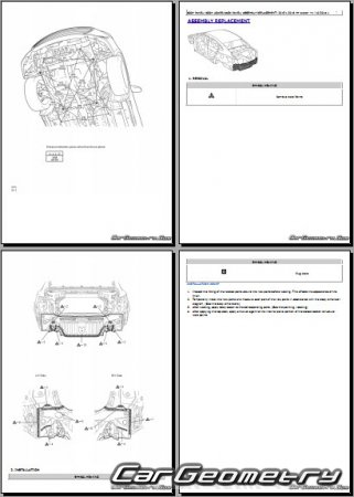 Toyota Avalon Hybrid (AVX40) 2016-2019 Collision Repair Manual