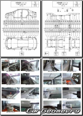 Honda Fit Aria / Honda City (GD) 2003-2008 Body dimensions