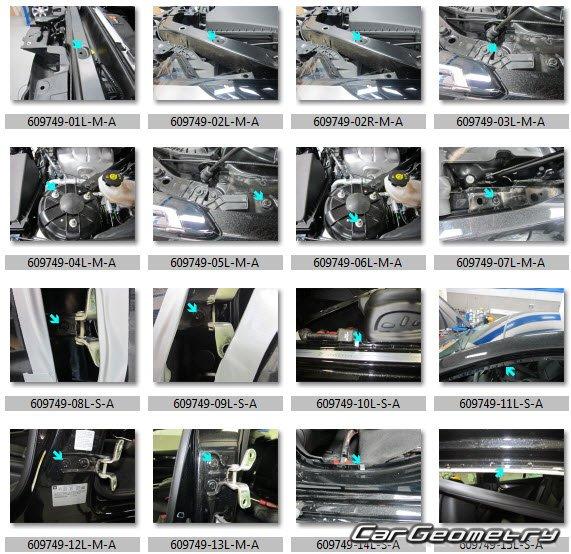 Геометрия кузова Кадиллак ATS Sedan 2013-2019