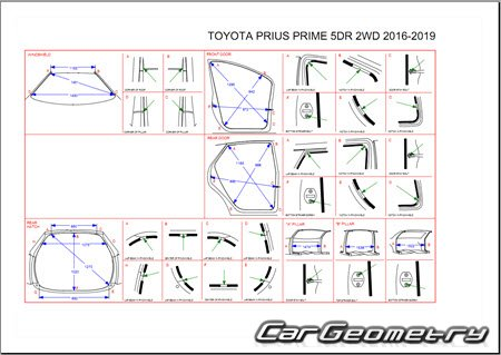 Toyota Prius Prime (ZVW52) 2016-2019 Collision Repair Manual