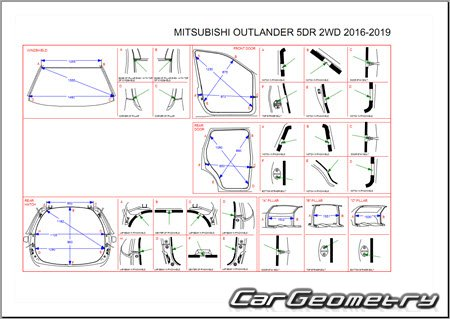 Mitsubishi Outlander 2016-2020 Body Repair Manual