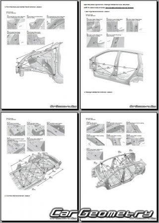 Размеры кузова Honda CR-V 2017-2022 Body Repair Manual