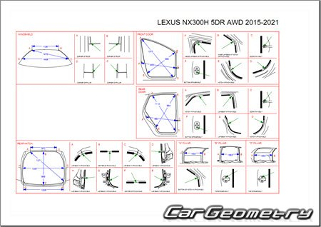 Lexus NX300h (AYZ10, AYZ15) 2015-2021 Collision Repair Manual