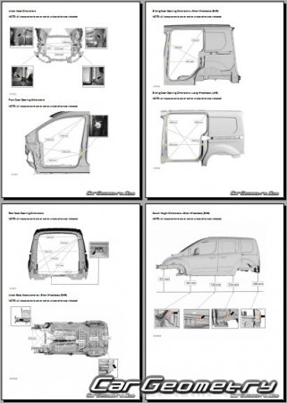 Размеры кузова Ford Transit Connect (Tourneo Connect) 2013-2021