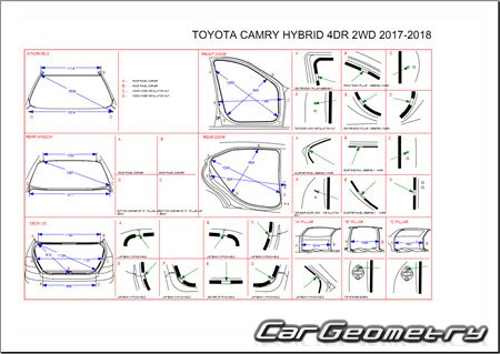 Toyota Camry Hybrid (AXVH70, AXVH71) 2017-2023 Collision Repair Manual
