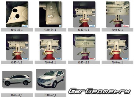 Ford Edge 2015-2020 Body dimensions