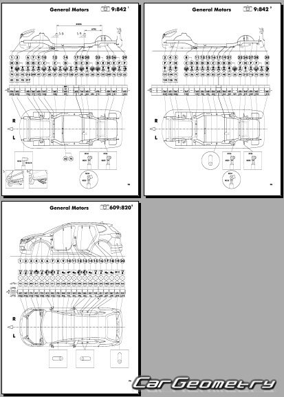 Размеры кузова Buick Envision 2017-2023 Body dimensions