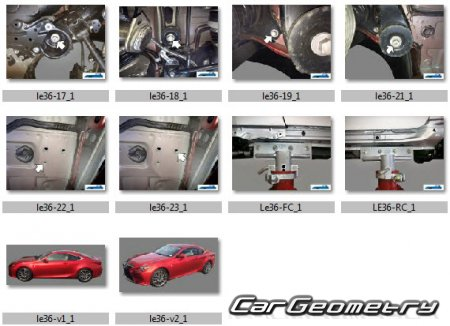 Lexus RC200T, RC300, RC350 (ASC10, GSC10, GSC15, GSC16) 2015-2021 Collision Repair manual