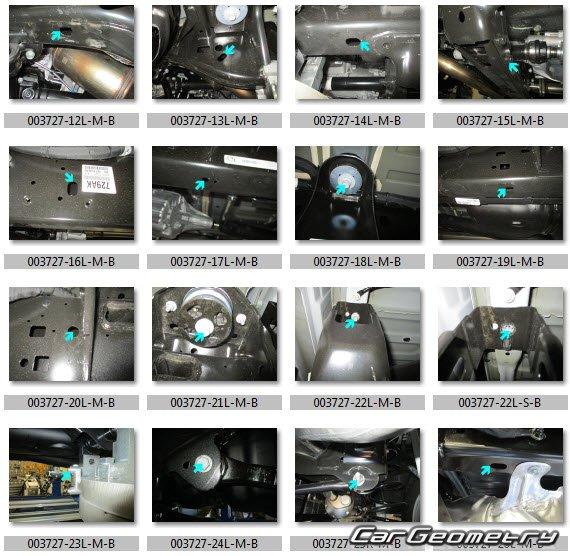 Dodge Ram 1500 2019-2025 (Crew Cab и Quad Cab) Body Dimensions