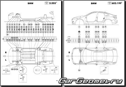 BMW 2-Series Gran Coupe (F44) 2020-2026 Body dimensions